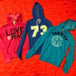 3 zip up jackets